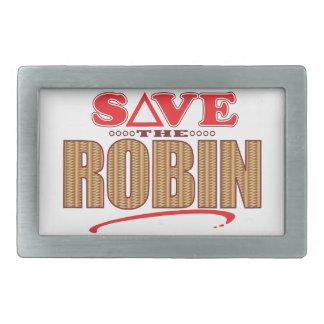 Robin Save Rectangular Belt Buckle