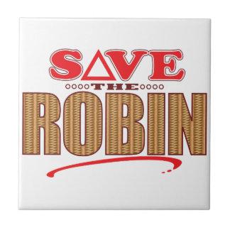 Robin Save Small Square Tile