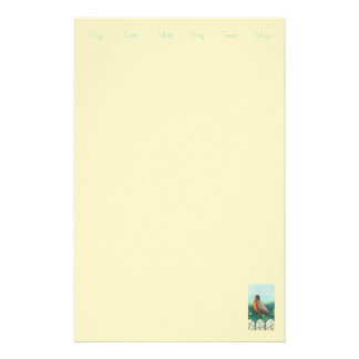 Robin stationary / Artist Sally Coupe JacobsonSimp Personalised Stationery
