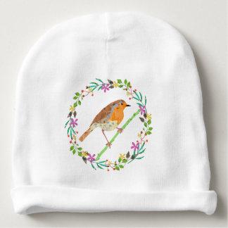 Robin the bird of Christmas Baby Beanie