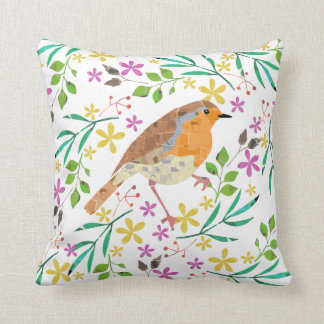 Robin the bird of Christmas Cushion