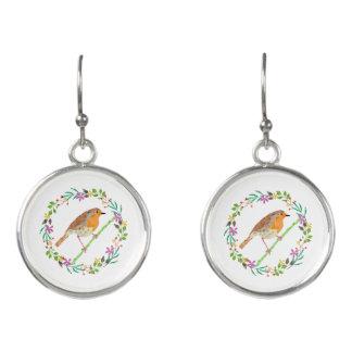 Robin the bird of Christmas Earrings
