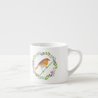 Robin the bird of Christmas Espresso Cup