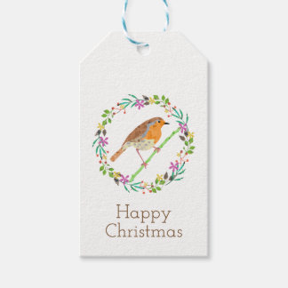 Robin the bird of Christmas Gift Tags