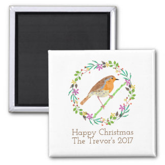 Robin the bird of Christmas Magnet