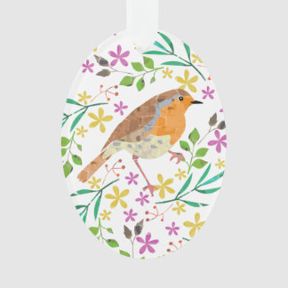 Robin the bird of Christmas Ornament