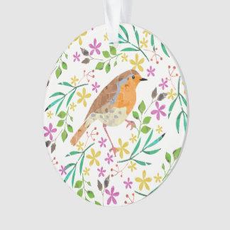Robin the bird of Christmas Ornament