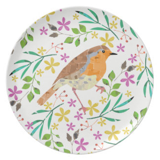 Robin the bird of Christmas Plate