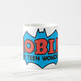 Robin The Teen Wonder Logo Basic White Mug