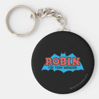 Robin The Teen Wonder Logo Key Ring