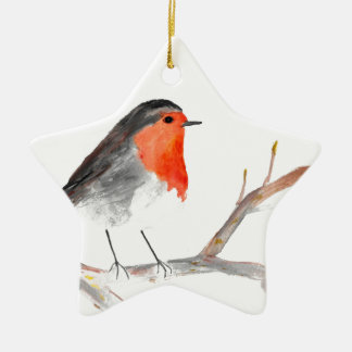 Robin watercolour painting Christmas art Christmas Ornament
