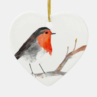 Robin watercolour painting Christmas art Christmas Ornament
