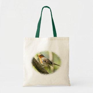 Robin Wild-life Bird Canvas Bag