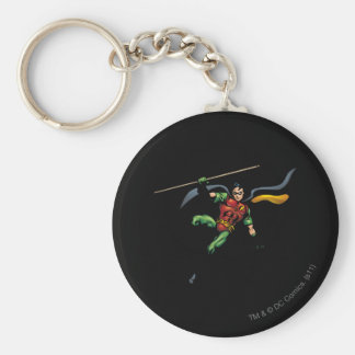 Robin with Staff Key Ring