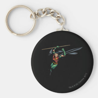 Robin with Staff - Leaps Basic Round Button Key Ring