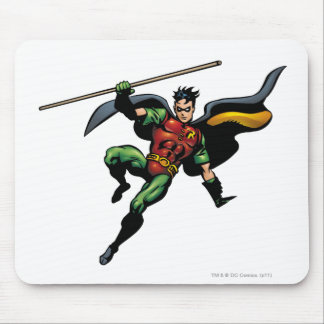Robin with Staff Mouse Mat