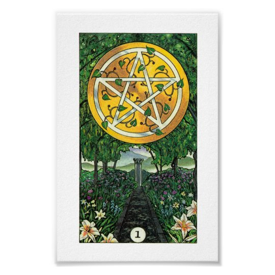 Robin Wood Tarot - Ace of Pentacles Poster