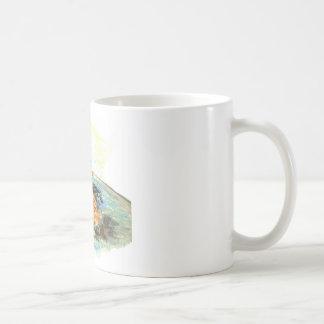 Robin's Bird Bath Basic White Mug
