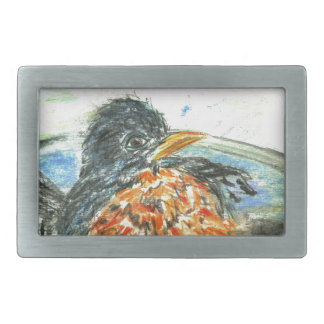 Robin's Bird Bath Belt Buckles