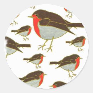 Robins Classic Round Sticker