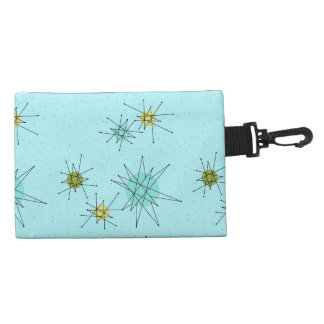 Robin's Egg Blue Atomic Starbursts Accessory Bag