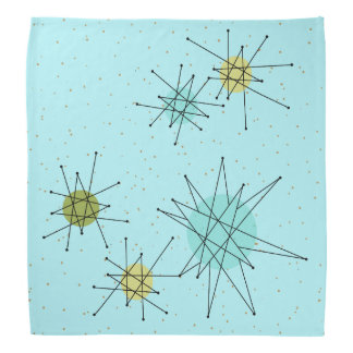 Robin's Egg Blue Atomic Starbursts Bandana