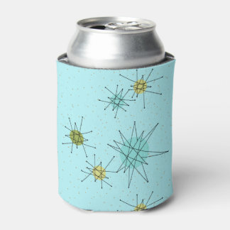 Robin's Egg Blue Atomic Starbursts Can Cooler
