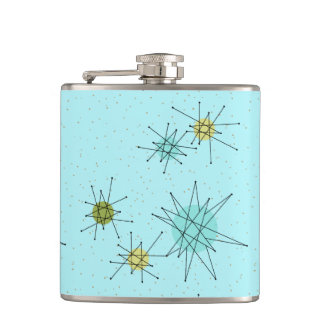 Robin's Egg Blue Atomic Starbursts Flask