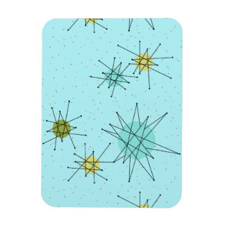 Robin's Egg Blue Atomic Starbursts Flexible Magnet