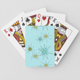 Robin's Egg Blue Atomic Starbursts Playing Cards