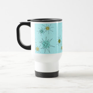 Robin's Egg Blue Atomic Starbursts Travel Mug