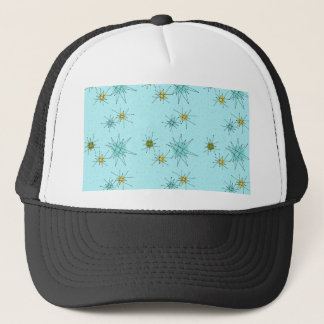 Robin's Egg Blue Atomic Starbursts Trucker Hat