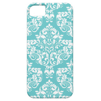 Robin's Egg Blue Damask Phone Case