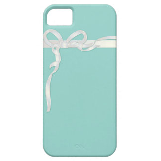 Robin's Egg Blue Jewelry Box with White Ribbon iPhone 5 Cover