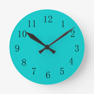 Robins Egg Blue Kitchen Wall Clock