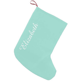 Robin's Egg Blue Solid Color Small Christmas Stocking