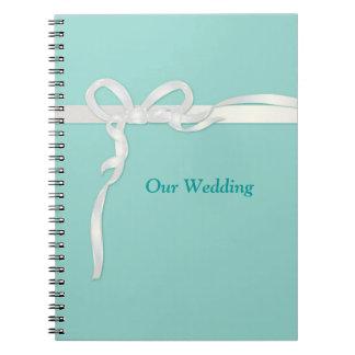 Robins Egg Blue Wedding Books Note Book