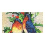 Robins & Holly Christmas Customized Photo Card