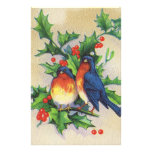 Robins & Holly Christmas Personalised Stationery