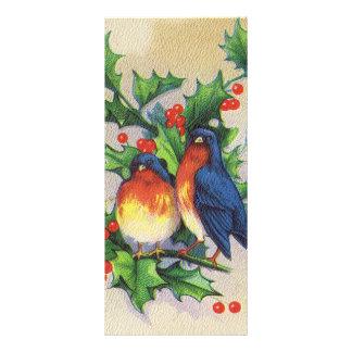 Robins Holly Christmas Rack Card Design