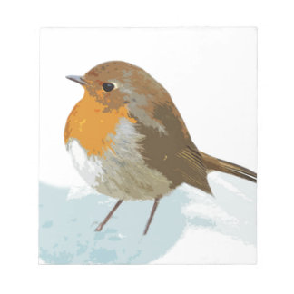 Robins  in Snow Notepad