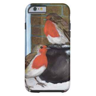 Robins in the snow tough iPhone 6 case