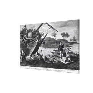 Robinson Crusoe carrying away Stretched Canvas Print