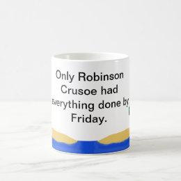 Resultado de imagen de robinson crusoe mug