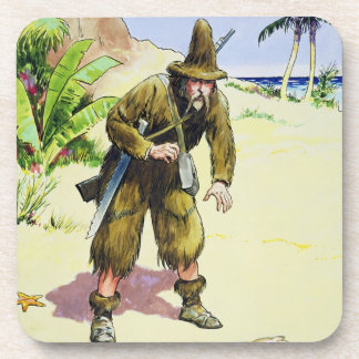 Robinson Crusoe, from 'Peeps into the Past', publi Coaster