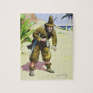 Robinson Crusoe, from 'Peeps into the Past', publi Jigsaw Puzzle