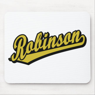 Robinson in Gold Mouse Pad