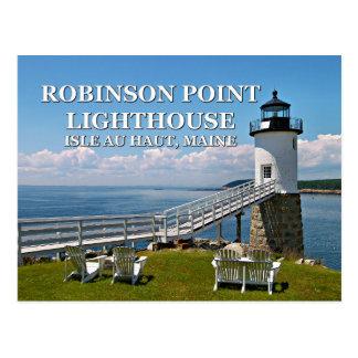 Robinson Point Lighthouse, Maine Postcard