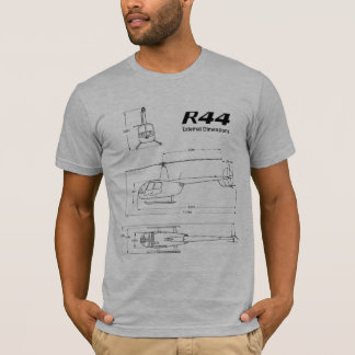 Robinson R44 Helicopter Bluprint T Shirt