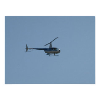 Robinson R44 Raven II Helicopter. Poster